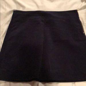 J Crew Corduroy Navy Mini Skirt